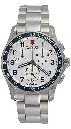 - Victorinox Swiss Army Men's 241121 Chrono Classic Silver Dial Watch