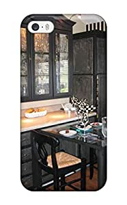 Scratch-proof Protection Case Cover For iphone 6 plus/ Hot Distressed Black Cabinetry With Pull-out Dining Table Phone Case