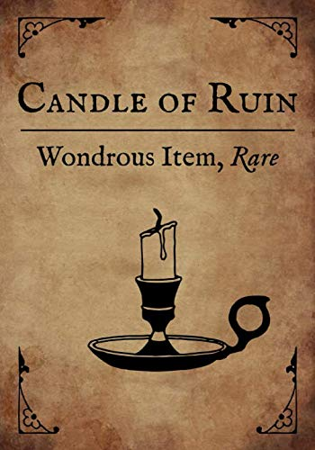 RPG Journal: Blank college ruled notebook for role playing gamers: Wondrous Item: Candle of Ruin