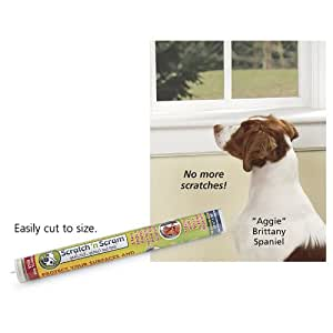 Scratch N Scram   Stops Dog Scratches On Doors. Protects Surfaces. Peel,  Stick