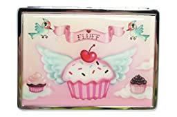 Fluff Cupcake Heaven - Cupcake Angel Metal ID Mirror Case