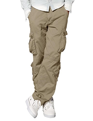 Match Men's Wild Cargo Pants #3357(34,British khaki) (Cargo Pants Pocket Mens)