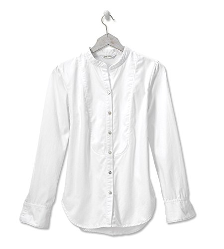 Orvis Tradewinds Bib-Detail Shirt, White, X Small Coldwater Dye