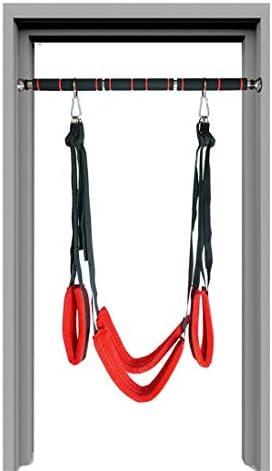 FELICIOO Erwachsene Geschlechtsspielwaren auf der Tür-Schaukel mit aufgefülltem Sex-Stuhl-Paar-Bar-Eignungs-Bondage-Hängematten-Schwingen (Farbe : Red Swing, Size : Long horizontal bar)