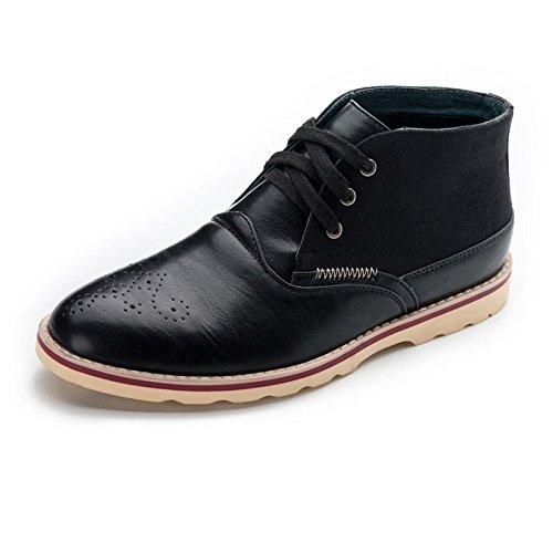 WZG Zapatos de los hombres zapatos bajos de deslizamiento hueca permeables caen nueva confort en los zapatos de desgaste ayudar Black