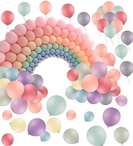 Xinmeng Globos Pastel Globos pastel de latex 100 Piezas10 Pulgada Globos Macaron para Fiestas, Graduaciones, cumpleanos, Bodas, Baby Shower, Dia de San Valentin, Decoraciones