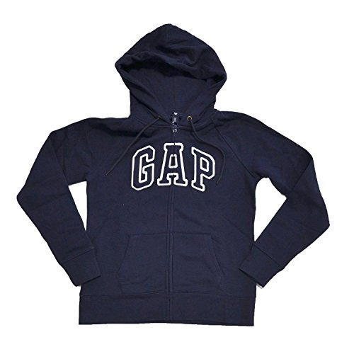 GAP Womens Fleece Arch Logo Full Zip Hoodie (X-Large, Navy Blue) (Arch Logo Zip)