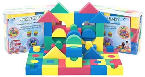 Non-Toxic 80 Piece (2 Set) Non-Recycled Quality foam Wonder Blocks for Children