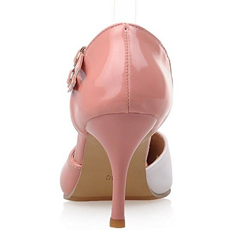 Dress Pink High Heel Sexy Shoes Stiletto Women Office Sandals LongFengMa qS0pT