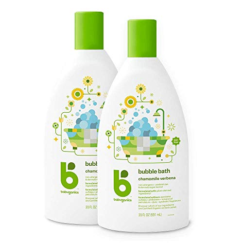 Babyganics Bubble Bath, Chamomile Verbena, 20oz, 2 Pack, Packaging May Vary