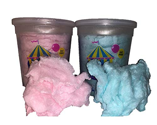 Cotton Candy Tubs Variety Pack by way of Snack Mountain (4 Oz Total) Blue and Pink Fluffy Sugar Candy