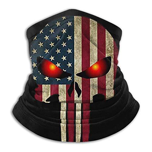 Emonye American Flag Skull Military Women Bandana,Face Scarf,Neck Gaiter,Neck Warmer,Headwear Head Wrap Balaclavas,for… 1