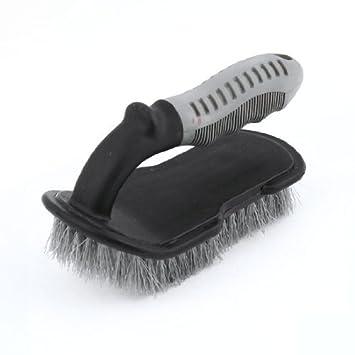 Agua y madera silla Auto Car alfombra antideslizante de plástico Clean Cepillo Negro Gris con coche gamuza de limpieza: Amazon.es: Coche y moto