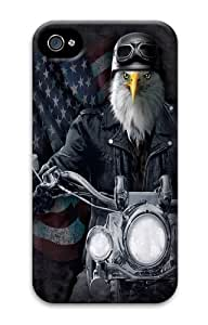 Biker Stryker Eagle PC Case Cover for iPhone 4 and iPhone 4s 3D