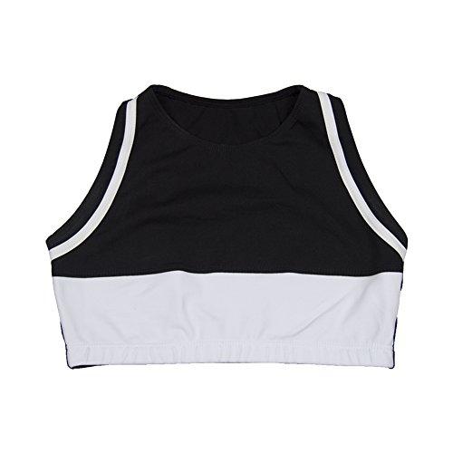 Outplay Women's Sports Bra Top (XXL, Black/White)