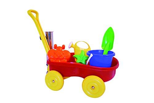 Adriatic Sandwagen mit Eimergarnitur Bollerwagen Handwagen Sandspielzeug