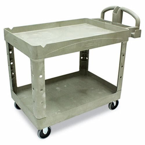 RUBBERMAID COMMERCIAL PRODUCTS Heavy-Duty Service/Utility Cart Beige