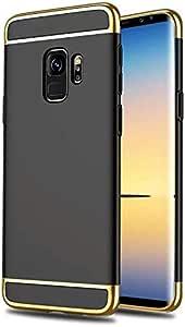 Shock resistant plastic rear cover for Samsung A8 Plus Black color