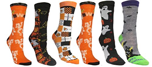 Many Size Socks Women's Halloween Designs 5 9 Crew Sock Cm1 Combos 11 Iqx0wCwUE