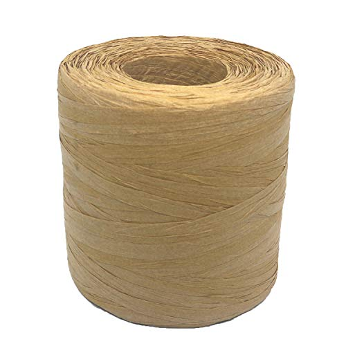 Jayoo 327 Yards Raffia Ribbon/String, Christmas Raffia Twine for Christmas Gift Wrapping Packing Christmas Decoration Supplies, 3 Rolls Natural Red Green (Natural)