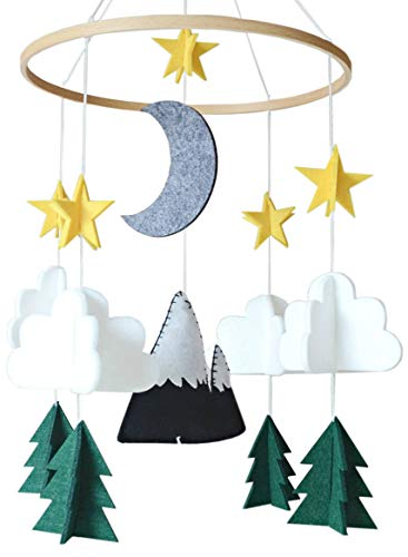 Baby Crib Mobile by Sorrel & Fern- Starry Woodland Night Nursery Decoration | Crib Mobile for Boys and Girls from Sorrel + Fern