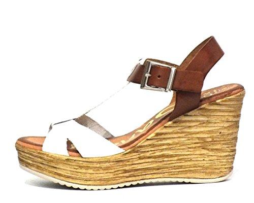 Sandalia piel Oh! my Sandals 3670 Cuña Blanco