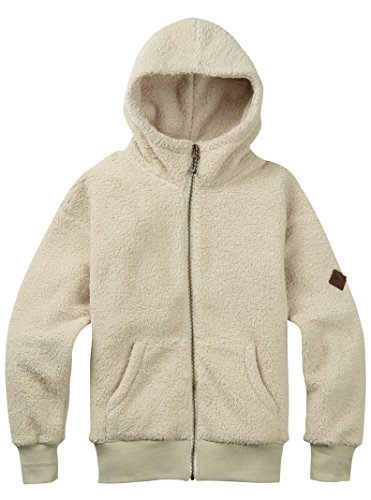 Burton Women's Lynx Full-Zip Fleece, Bone White, - Bones Burton