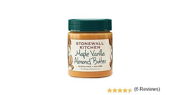 Stonewall Kitchen Arce vainilla mantequilla de almendras, 10 Oz ...