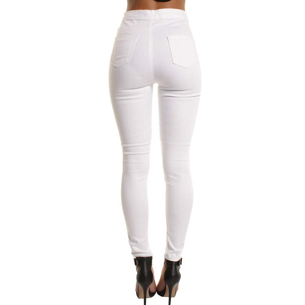 Anmain Donna Casual Elegante Jeans Denim A Vita Alta Leggings Elastico Skinny Lunghi Matita Pantaloni Stretch Autunno Inverno Fitness Jeans