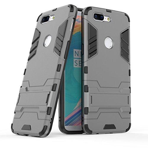 Funda para OnePlus 5T (6,01 Pulgadas) 2 en 1 Híbrida Rugged Armor Case Choque Absorción Protección Dual Layer Bumper...
