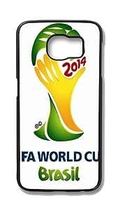 Samsung Galaxy S6 Edge Customized Unique Hard Black Case Fifa World Cup 2014 Case S6 Edge Cover PC Case