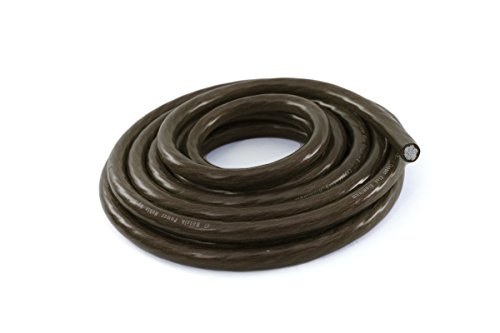 KnuKonceptz Bassik 4 Gauge Power / Ground Wire Cable Black 25 foot coil ()