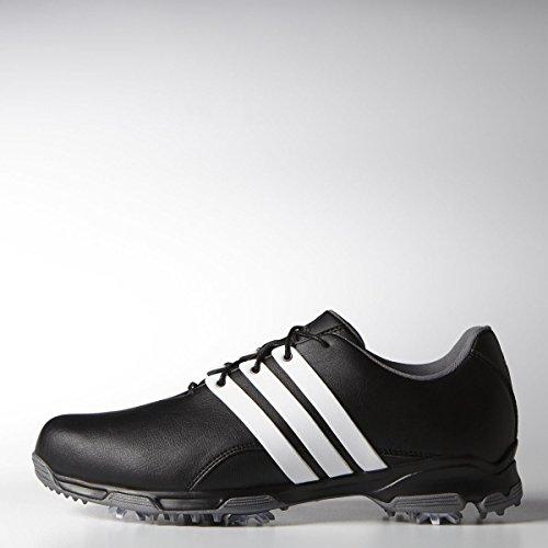 Adidas Mens Pure Trx Golf Shoe Core Nero / Ftwr Bianco / Argento Scuro Metallizzato
