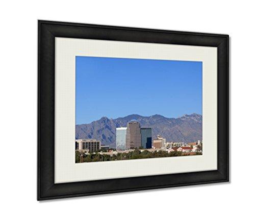 Ashley Framed Prints, City Skyline Tucson Az, Wall Art Decor Giclee Photo Print In Black Wood Frame, Ready to hang, 24x30 Art, - Skyline Az Tucson