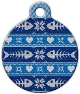 Tacky Mens Sweater Pet ID Tag for Dogs and Cats Dog Tag Art