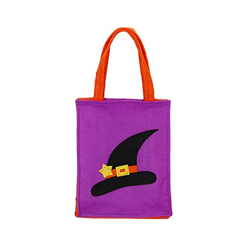 Glumes Magic Hat Halloween Non-Woven Bags Trick or Treat Gift Bags Halloween Totes Party Goodie Tote Bags Treat Bag with Handles for Kids Halloween Themed Party Gift -