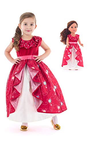 Little Adventures Spanish Princess Dress Up Costume & Matching Doll Dress (X-Large Age 7-9)]()