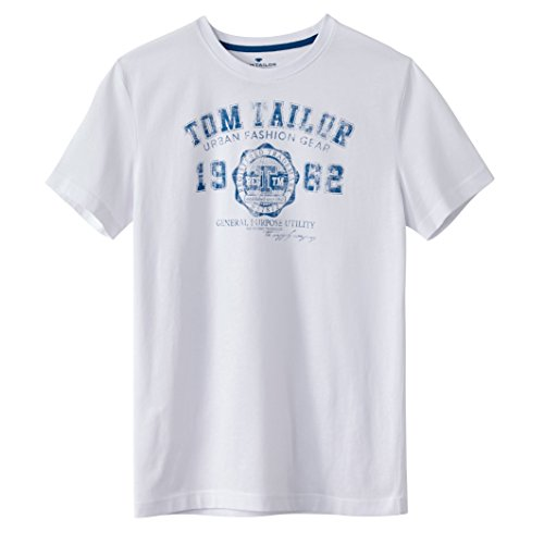 tom-tailor-mens-t-shirt-with-printed-motif-on-the-front-white-size-xl