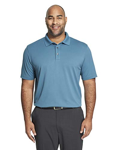- Van Heusen Men's Big and Tall Short Sleeve Air Performance Ottoman Stripe Polo Shirt, Turquoise mallard blue, 2X-Large Tall