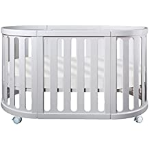 Cocoon Nest 4 in 1 Bassinet Goes from Bassinet to Crib to Toddler Bed to Table & Chair Set (White)