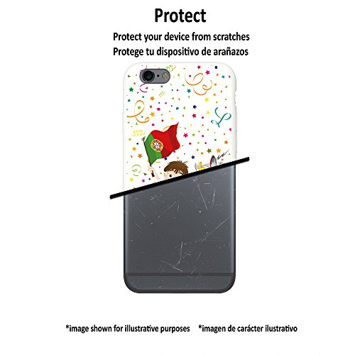 WoowCase Hülle Case für [ iPhone 7 ] Handy Cover Schutzhülle Fußballfan Portugal Sportsselektion