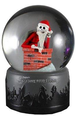 Tim Burtons Nightmare Before Christmas Chimney Santa Jack Skellington Waterball Snow Globe