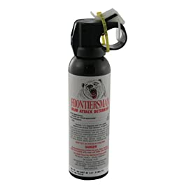 Frontiersman Bear Attack Deterrent, 7.9 oz. Canister 114 Heavy Fog Delivery 2.0% CRC - Maximum Strength 30 Foot Range