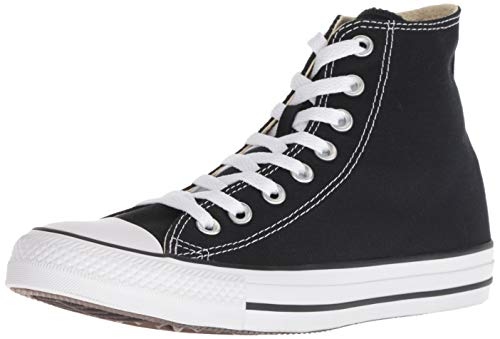 Converse Clothing & Apparel Chuck Taylor All Star Canvas High Top Sneaker, Black, 44 ()