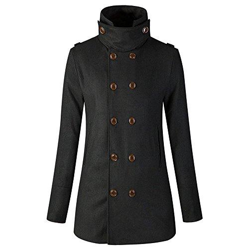 Realdo Women Trench, Warm Jacket Double Breasted Long Coat Overcoat