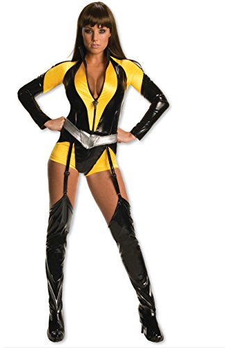 Secret Wishes Women's The Watchman Silk Sceptre Costume, Black/Yellow, S (4/6)