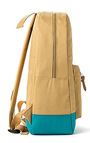 Keshi Nylon Niedlich Schulrucksäcke/Rucksack Damen/Mädchen Vintage Schule Rucksäcke mit Moderner Streifen für Teens Jungen Studenten Blau