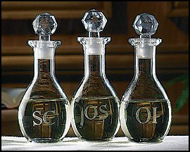 US Gifts Etched Ambry Set Glass 2 3/4