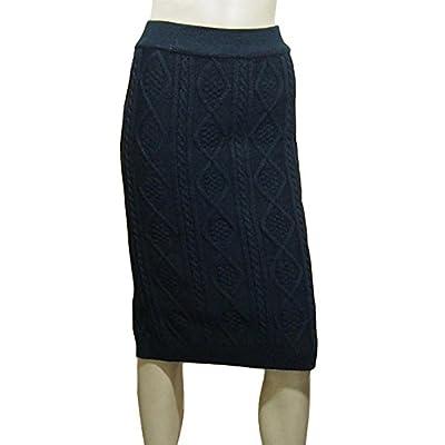 ITOPAI Women Winter Thick Back Slip Slim Knitted Skirt One Size