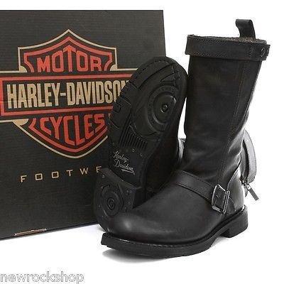 Nero Harley Stivali Davidson Donna